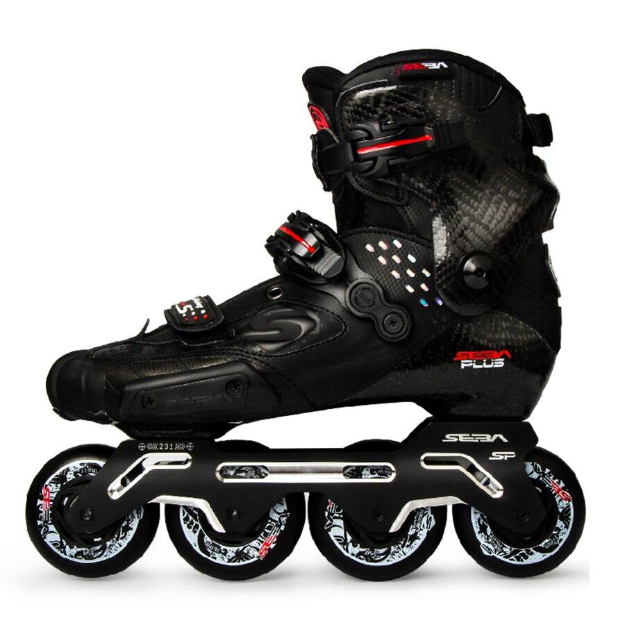 100% Original 2019 Mais Novo Slide SEBA S Fibra De Carbono Sapatos de skate Slalom Adulto Patins Inline Profissional Deslizante Patinagem Livre Patines