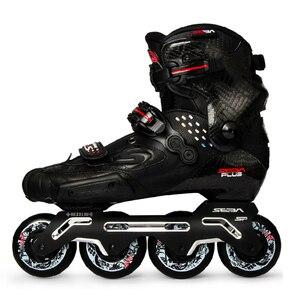 Image 1 - 100% Original 2020 Neueste SEBA S Rutsche Professionelle Erwachsene Inline Skates Kohlenstoff Faser Schuhe Slalom Schiebe Freies Skating Patines