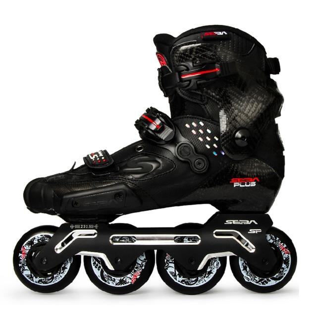 100% Original 2020 Neueste SEBA S Rutsche Professionelle Erwachsene Inline Skates Kohlenstoff Faser Schuhe Slalom Schiebe Freies Skating Patines
