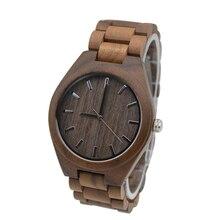 Full Walnut Wooden Watch For Mens Custom Gift Boyfriend With Wood Watchband Christmas