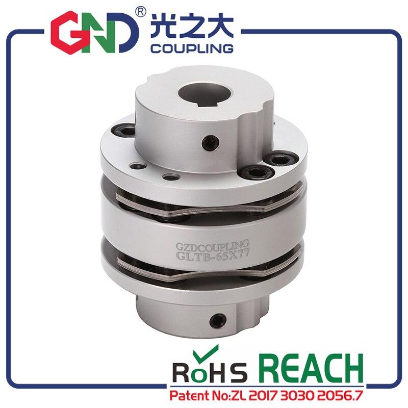 GND 8 screw aluminum alloy high rigidity step type single diaphragm keyway series shaft couplingGND 8 screw aluminum alloy high rigidity step type single diaphragm keyway series shaft coupling