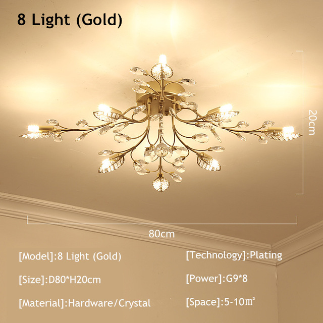 8 Lights Gold
