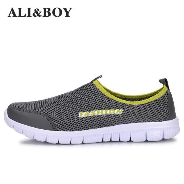 Али и Мальчик Новый Для мужчин/Для женщин свет сетки Кроссовки, спортивные спортивная обувь удобные дышащие Для Мужчин's Спортивная обувь Run Shox размеры 34–46