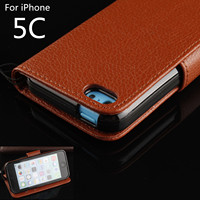 Flip Phone Case For Apple IPhone 5C Cover Case Drop Detection Holster Cash Holder Photo Frame