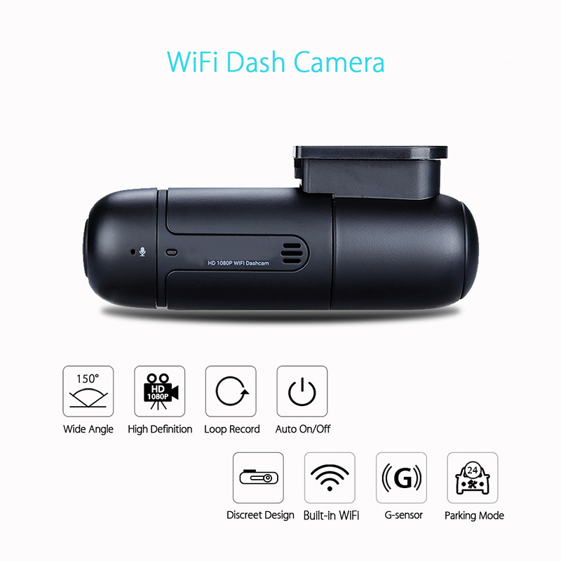 2018 HD 1080P Dash Camera Car DVR Mini WiFi Car Dash Camera Dashboard 360 Degree Rotate Capacitor Parking Car DVR Recorder