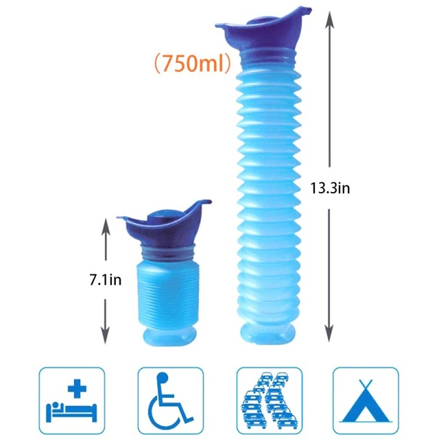 Outdoor Portable Urinal Women Men Children 750ML Mini Toilet  For Travel Camp Hiking Potty Children Training Foldable Pee Tool