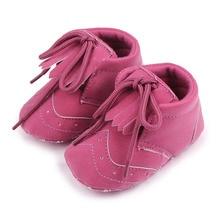 Горячие Продажи Бахромой Кожа Мягкой Подошвой Детские Frewalk Обувь Для Девочек и Мальчиков 0-12 Месяцев