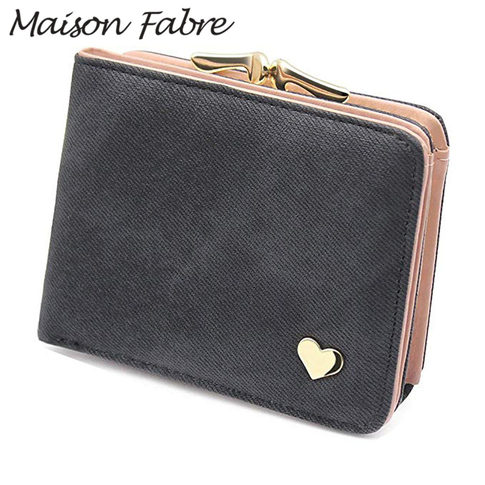 Wallet Bag Thin Case Card-Holder Pocket Maison Vintage Women Denim Summer Fabre-Bag