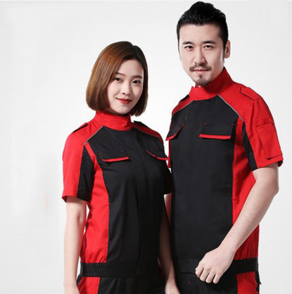 Set of Coat+Pants short sleeve car service uniform 4s service coat repair clothes working uniform coat