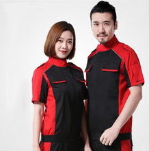 Set of Coat+Pants short sleeve car service uniform 4s service coat repair clothes working uniform(China)