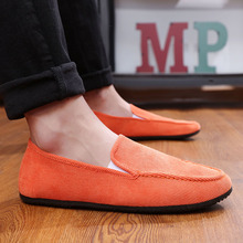2019 Casual Shoes Men's Spring And Summer Breathable Flat Shoes Comfortable Light Canvas Men's Shoes a Pedal Lazy Shoes