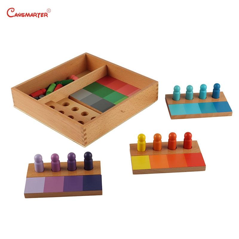 Montessori jouets en bois éducatifs Couleur Formation Avec la Boîte Enfants D'âge Préscolaire jouets pour jeux Montessori Sensorielle Aides à L'apprentissage SE054-3
