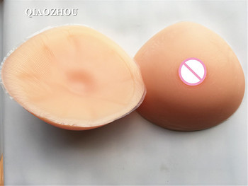 G cup 2400 g/pair triangle fake breasts transsexuals drag queen breast form realistic soft silicone