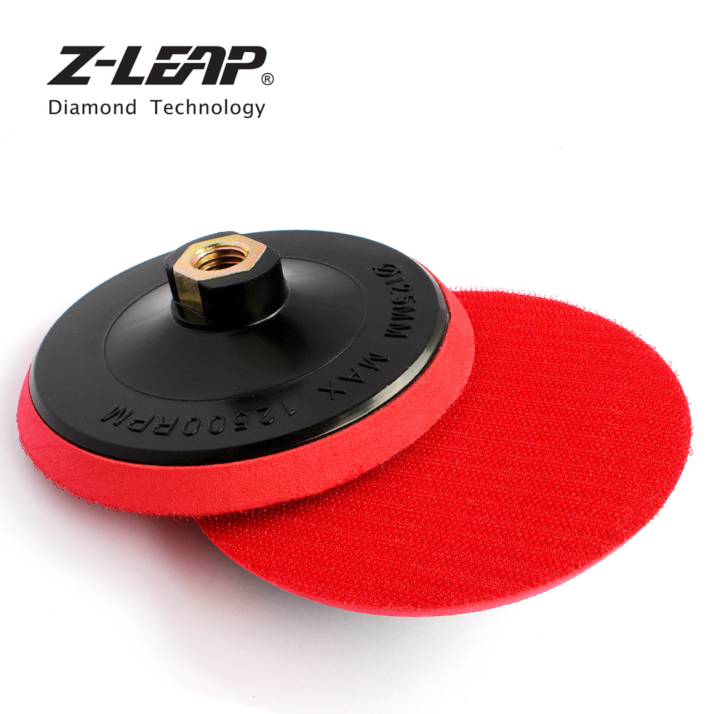Z-LEAP 5 Inch 2PCS Plastic Backer Pads M14 Thread Backer Plate For Car Polishing Stone Polishing Backing Pad For Angle Grinder