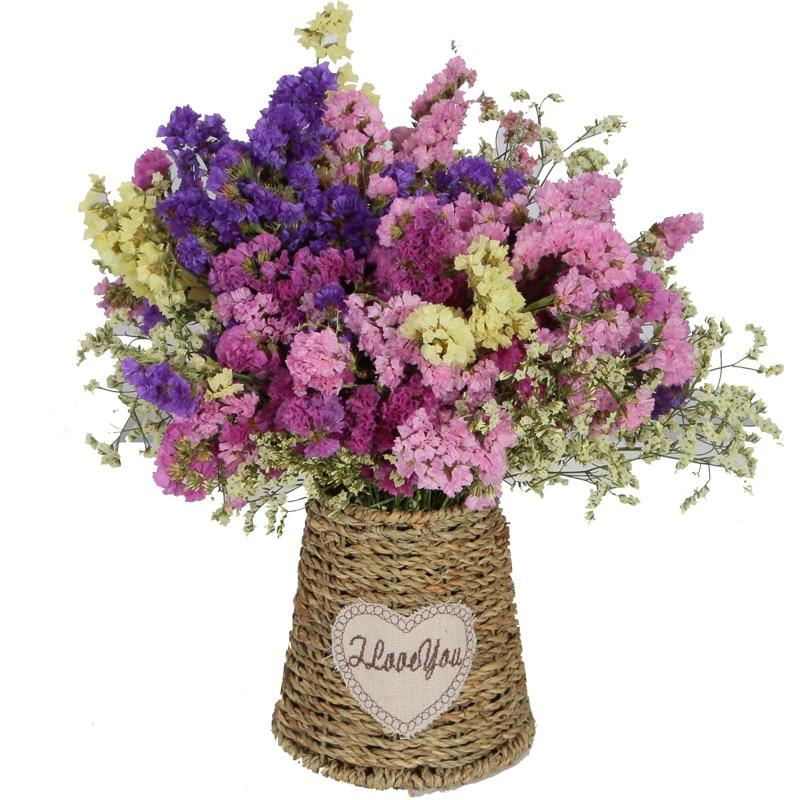 flores secas ramos de flores arreglo de flores weaven de paja cesta de