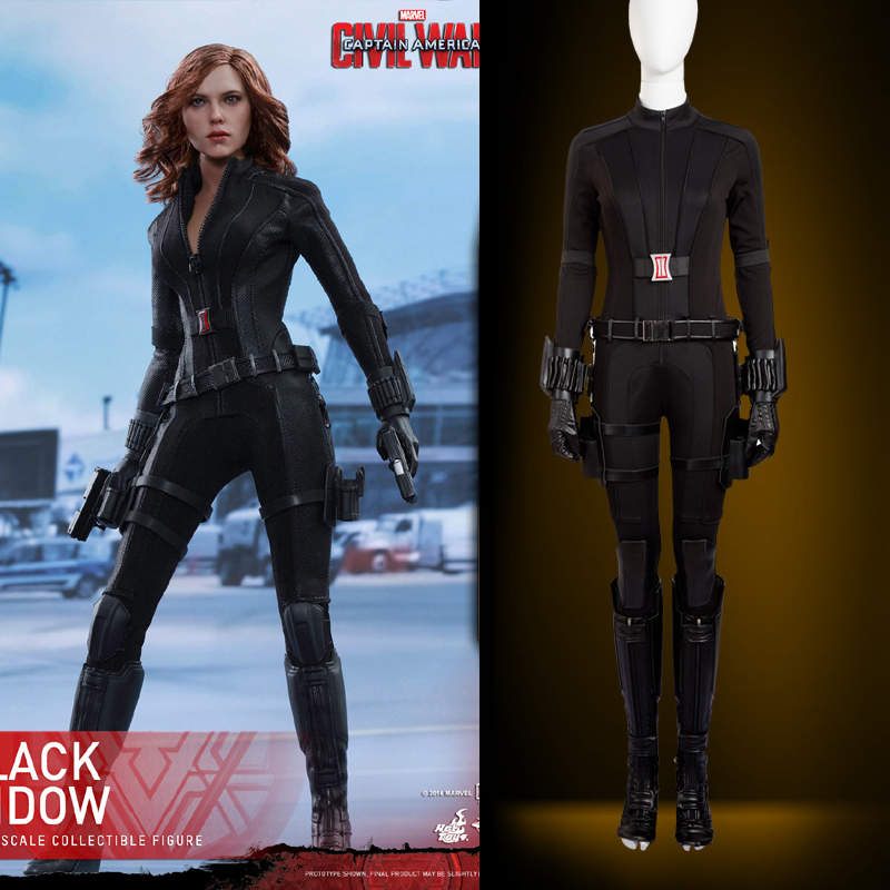 Hero Catcher  High Quality Captain America Civil War Black Widow Cosplay Costume Natasha cosplay Captain America costume