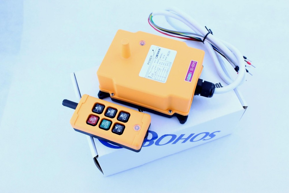 220V HS-6 6 Channels Control Hoist Crane Radio Remote Control Industrial Remote Control Hoist Crane