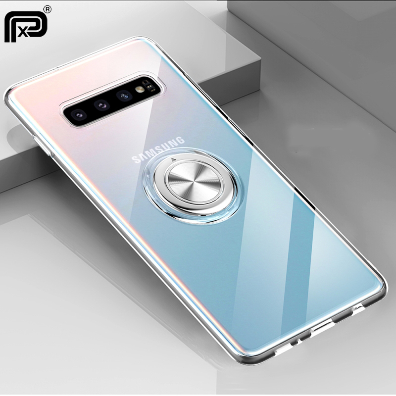 For Samsung Galaxy S10 5G S10 S9 S8 Plus Note 9 Note 8 A7 A9 2018 S10e M20 M30 Note 10 Case Cover Soft Silicone Ring Holder