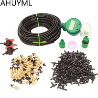 Automatic Drip Irrigation System Garden Watering System Copper Spray Kit Adjustable Drip Controller Intelligent Controller Set