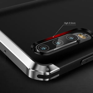 Image 5 - Pancerz aluminiowa metalowa obudowa do Huawei P40 Pro P30 obudowa z twardego plastiku hybrydowa, odporna na wstrząsy obudowa do telefonu Huawei P30 Pro
