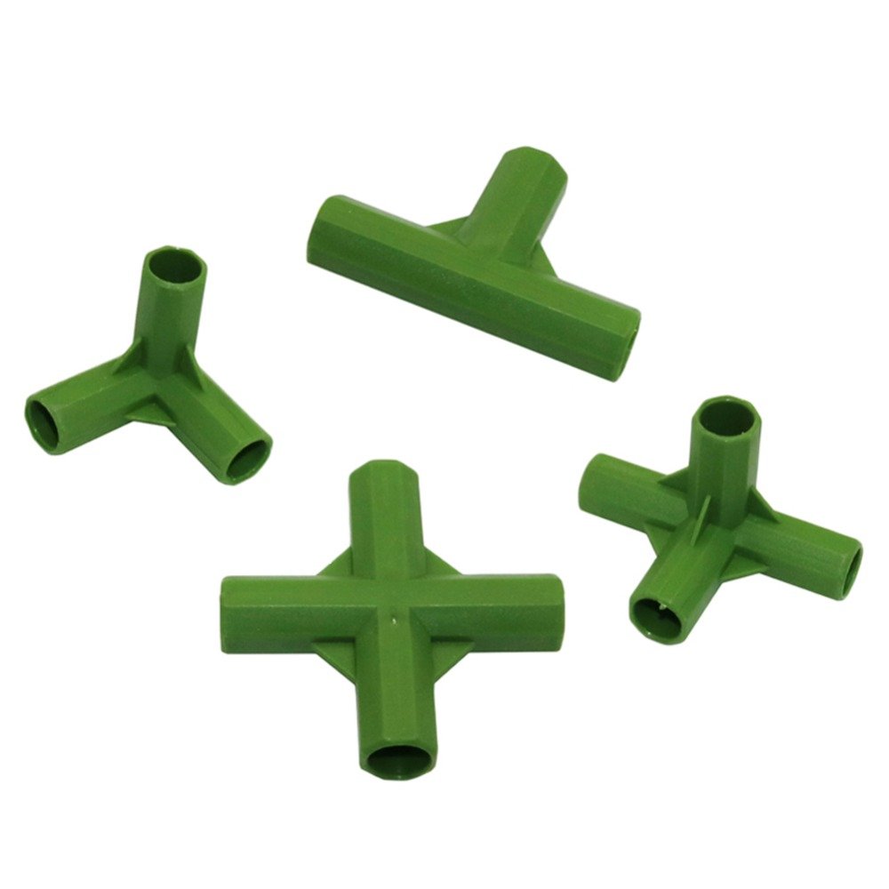Agriculture Plant Stakes Edging Corner Connectors 3-way 4-way Bracket Joint For 11mm Flower Support Stakes 50 Pcs