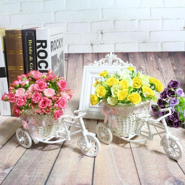 Rotin Tricycle Vélo Panier Garden Party De Mariage Bureau Vase ...