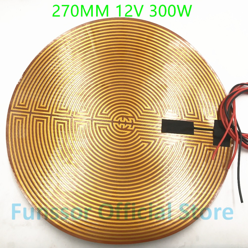 Practical Funssor 270mm 12v 300w Round Polyimide Film Heater Bed Ntc3950 Thermistor For Diy Delta/kossel 3d Printer 3d Printer Parts & Accessories