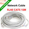 NGtechnic RJ45 CAT5E CAT5 LAN Ethernet Network Cable Gray 15M 49ft special for IP camera PoE Camera CCTV Camera