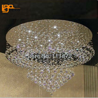 New Modern Luxury Round Home Decoration Crystal Chandeliers Rain Drop Design With G10 LED Light Source