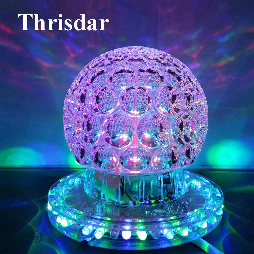 Thrisdar RGB Magic Ball DJ Disco Led Stage Light Auto Rotating LED Stage Disco Laser Light Party Disco DJ Laser Projector
