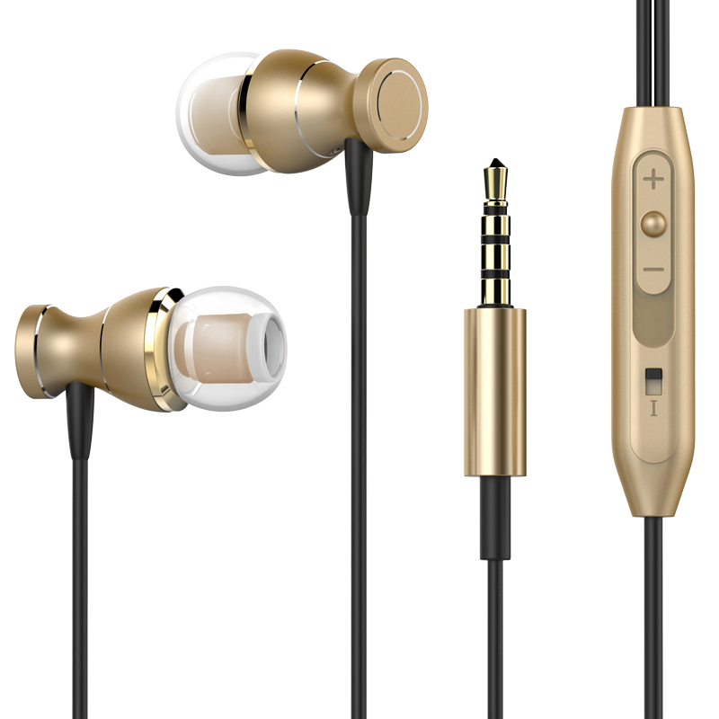 Magnetic Earphones Headphone Metal Headsets Hot Sale 3.5mm Super Bass Stereo Earbuds With Mic For Mobile Phone MP3 MP4