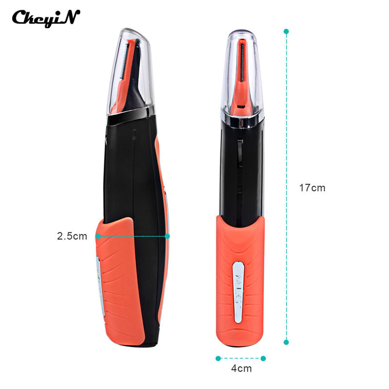 Portable Electric Nose Hair Trimer Shaver Blade Sideburns Razor Eyebrows Trimmer for Nose Cutter Personal Nose Hair Clipper ckeyin portable washable female shaver nose ear hair clipper trimer dry wet use electric face hair removal for leg underarm