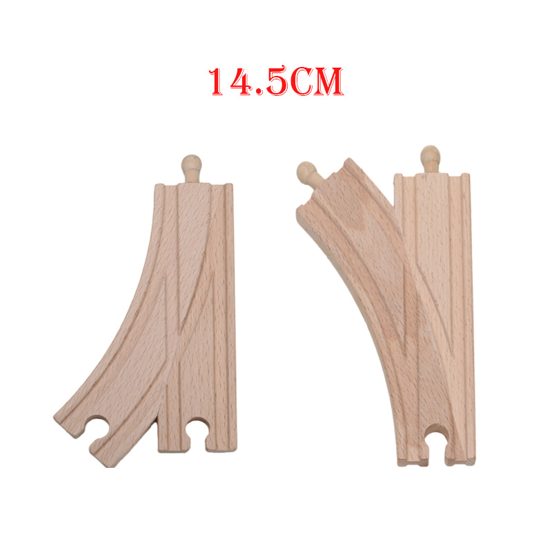 Friends 14.5cm Set of 2 Single Curved 2 Way Switch Tracks Educational Blocks Toys Railway Accessories bloques de