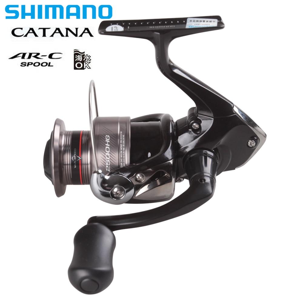 100% SHIMANO CATANA 2500HG/C3000HG/4000HG Spinning Reel 3BB 6,2: 1/5. 8:1 Drag 4-8,5 kg AR-C Propulsion Linie Management System Reel