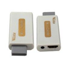 Wiistar وي إلى HDMI Wii2HDMI محول تحويل كامل HD 1080 P الناتج رفع المستوى 3.5 مللي متر الصوت إخراج الفيديو الأبيض الساخن بيع