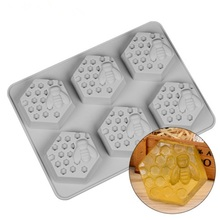 Bee Silicone Soap Mold 6-Cavity Chocolate Candy Mould Craft Resin Molds Cake Decorating Tool