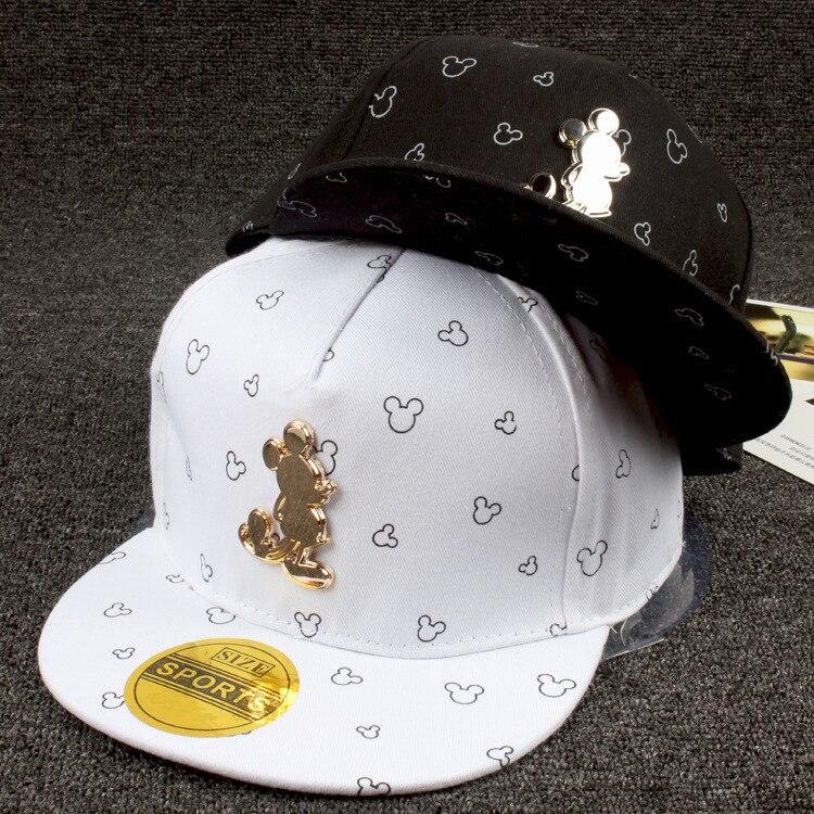 Prix pour Nouveaux Enfants Chapeaux De Fer Standard Millet Étrange Enfants Hip Hop Chapeau Belle Bébé Extérieur Canard Langue coton mickey Baseball Chapeaux