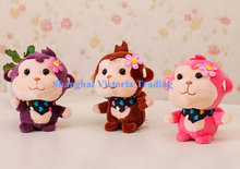 CUTE Stuffed Monkey Plush , 10CM Doll Plush Stuffed TOY , Sucker Pendant DOLL TOY For Wedding Gift , Bouquet Toy(China)