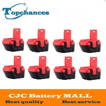 8PCS Brand New 12V Ni-CD 2000mAh Replacement Power Tool Battery for Bosch BAT043 2 607 335 692 Bosch 22612 Bosch 23612 Black&Red