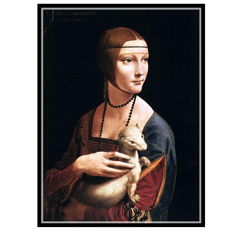 Golden panno Needlework Embroidery DIY portrait Painting Cross stitch kits 14ct beautiful woman Cross stitch Sets