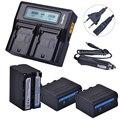 3x7200 мАч NP-F970 NP F970 батарея с дисплеем питания + Ультра быстрое 3X быстрое двойное зарядное устройство с ЖК-дисплеем для SONY F930 F950 F770 F570 CCD-RV100