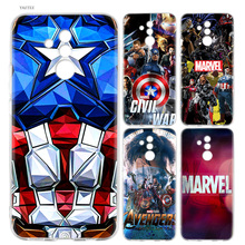 Luxury Marvel Comics Fashion Soft Case For Huawei P30 P20 Mate 20 10 Pro P10 P9 lite P Smart + Plus Z 2019 Cover стоимость