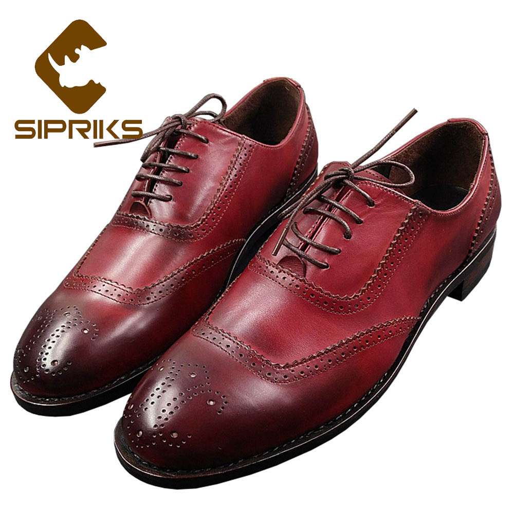 Sipriks Luxury Floral Oxford Shoes For Men Vintage Boss Brogue Shoes Italian Custom Goodyear Welted Dress Shoes Classic Oxfords sipriks genuine leather yellow brown oxfords shoes for men luxury brand custom goodyear welted shoes vintage carved dress shoes