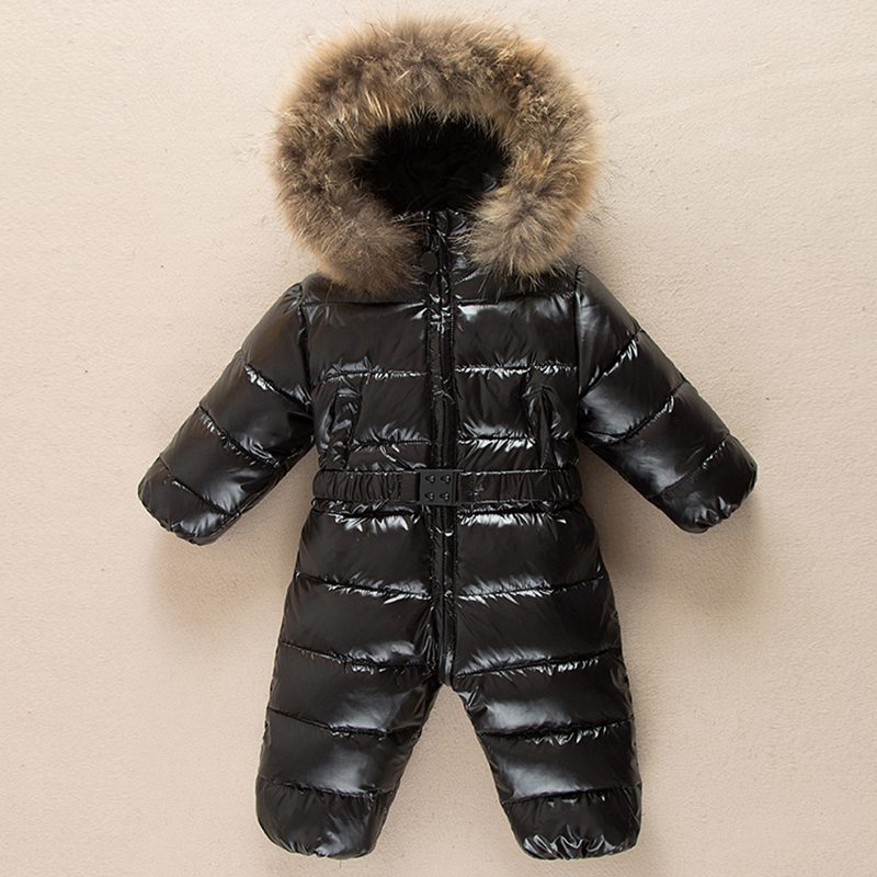 Winter Warm baby girl boy Snowsuit 90% down babies overall hoodies Newborn overalls clothes kids children one pieces jumpsuit 2016 winter boys ski suit set children s snowsuit for baby girl snow overalls ntural fur down jackets trousers clothing sets