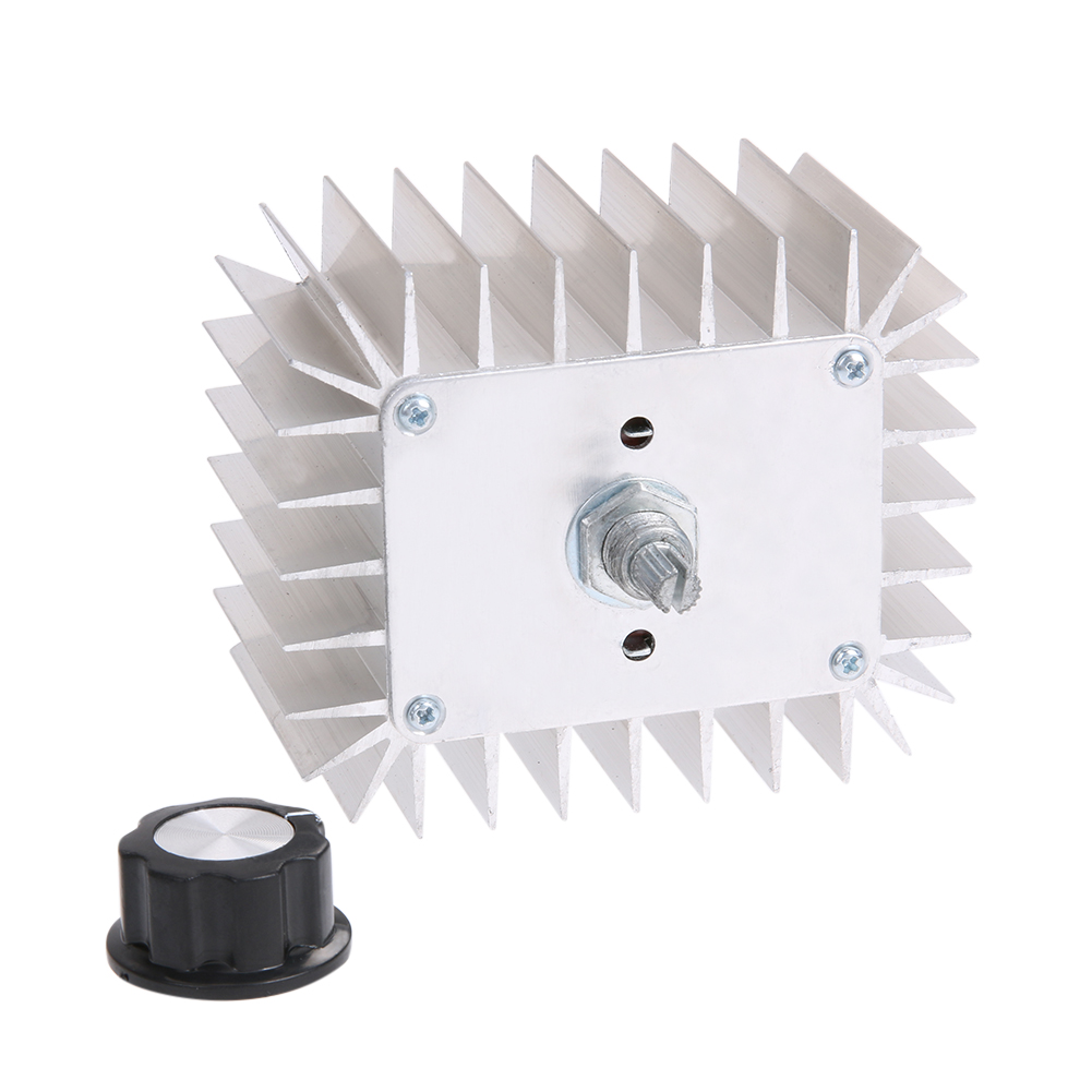 AC 220V 5,000W SCR Voltage Regulator Speed Temperature Controller Dimmer Aluminum Alloy Thermorytic Shell 84.8 X 70 X 75mm цена