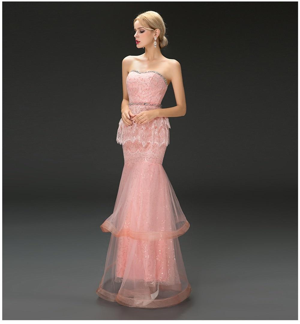 Elegante Sirena de Novia Formal Vestido de Novia de Tul y Encaje de ...
