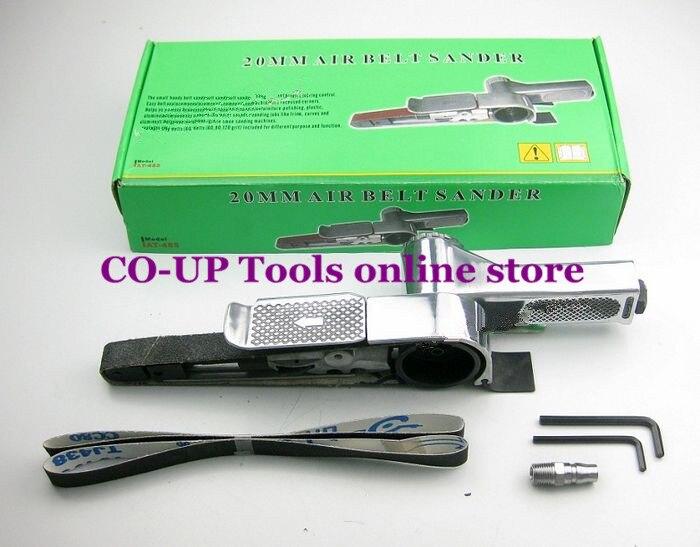 ФОТО Free shipping 20mm Small Mini Air Powered Operated Hand Power Belt Sander Sanding Grider Tool Kit
