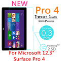 """Pro4 9 h 0.3mm para microsoft surface pro 4 12.3 """"tablet pc a prueba de explosiones templado película de vidrio templado protector de la pantalla cubierta"""