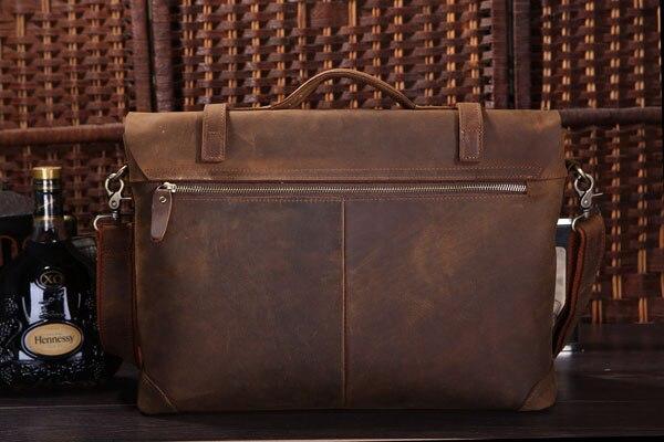 Neue Handtasche Umhängetasche Rare Kuh Brown Büro Leder Berühmte Marke Jmd 7082r Männer Für Echte Aktentasche gfY0xw