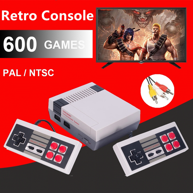 Brand Mini Video Gamepad Retro Classic AV TV Console 600 Built-in Games Double Gamepad Joystick US/EU/UK Plug for Adults & Kids
